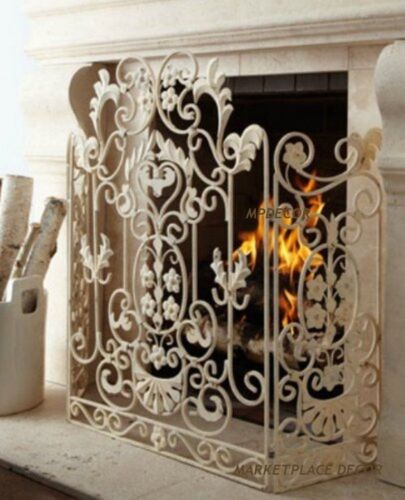 French Country Scroll Floral Antique Finish Cottage Shabby Chic ...