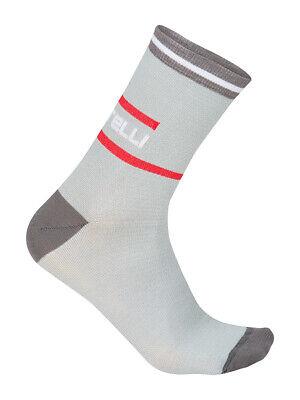 Castelli QUINDICI 15 cm Tall Cuff Wool Blend Cycling Socks BLACK One Pair