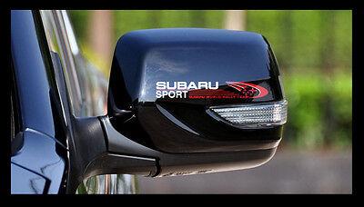 Pair SUBARU SPORT Rally outback forester XV STI Impreza WRX Car Mirror Sticker_W