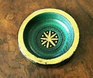 WAYLANDE-GREGORY-Art-Pottery-MCM-Ashtray-Incised-Signed-Studio-Stoneware-Bowl