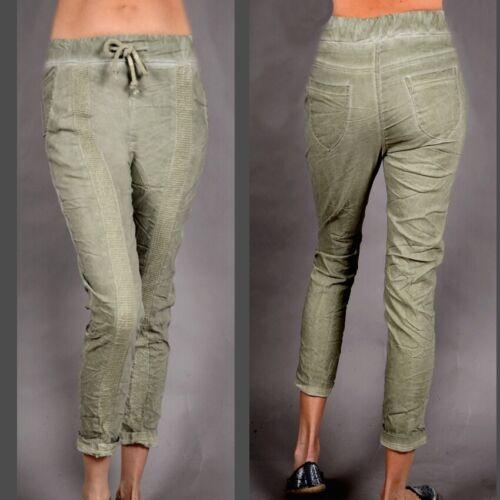 Da DONNA STRECH Estate Pantaloni Cargo Bermuda shorts skinny 36 38 40 S M L VERDE OLIVA Spiaggia