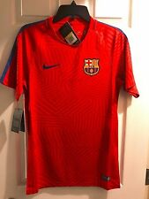 16/17 FC Barcelona Nike Pre-Match Soccer Training Jersey Red/Blue Sz Small Messi