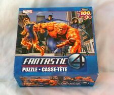 Marvel Fantastic 4 100 Piece Puzzle It's Clobberin' Time! Sealed 2005        b21