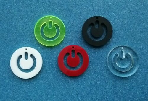 5x power symbol gamer  charms//pendants//jewellery making//acrylic//cabachons