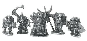 Giant-Orc-Command-x5-28mm-Unpainted-Metal-Wargames-Warhammer