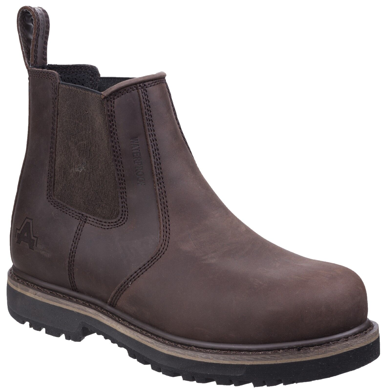 Amblers Skipton Brown Safety Dealer Work Boots Goodyear Welted AS231 6-12