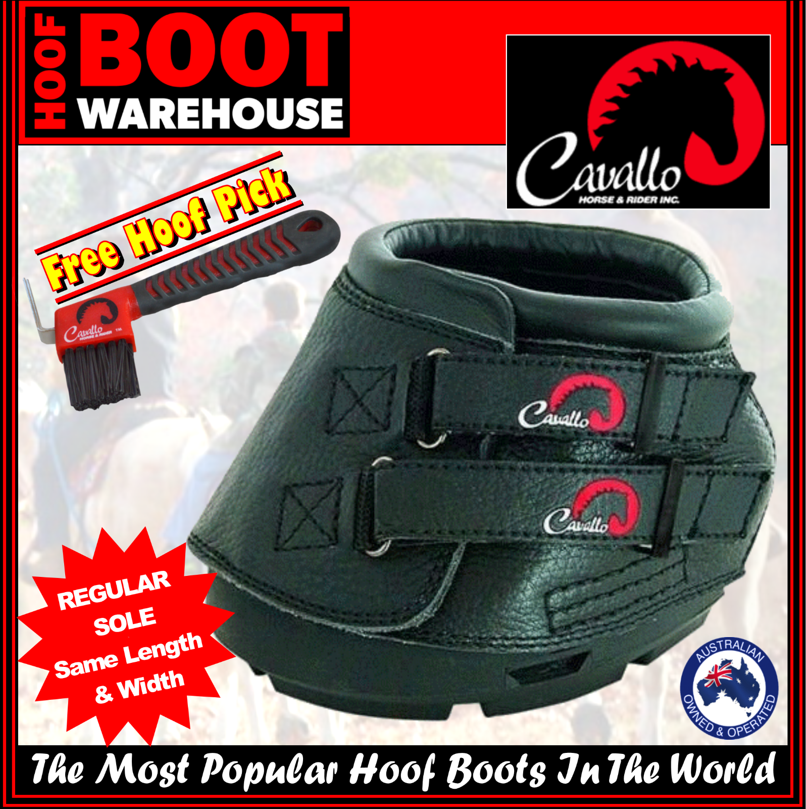 Cavallo 'SIMPLE' Hoof Stiefel (Pair)  -  Protection. Horse. Equine. Protection.  REGULAR SOLE e62262
