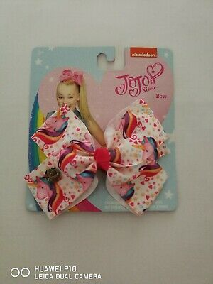 jojo 9cm Girls Kids Rainbow Hair Bow With Alligator Clip Gifts Bowknot