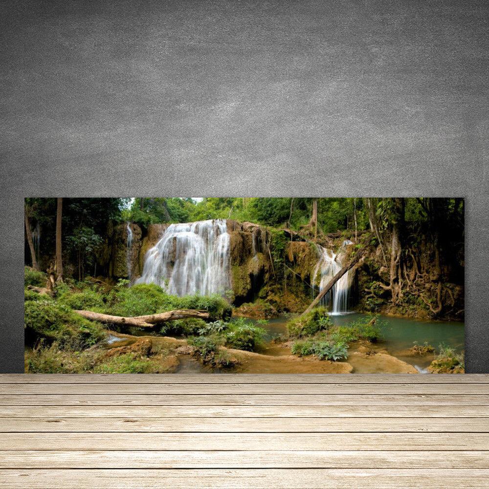 Crédence de cuisine en verre Panneau 125x50 Nature Chute D'eau Rivière Forêt