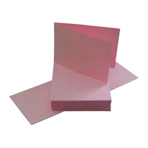 Kuvert 50 Blanco Karten Klappkarte DIN A 6 quer rosa