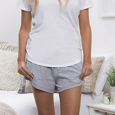 Comfy Co Ladies Lounge Shorts Pyjama Nighwear Relaxed Fit Pockets Waistband New