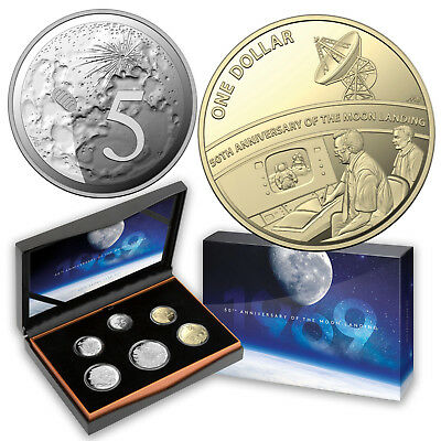 UNC 2019 RAM Uncirculated 50th anniversary of Moon landing 6 Coin Mint Set
