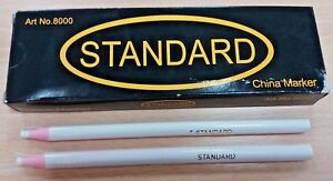 6-GOOD-QUALITY-WHITE-CHINAGRAPH-CHINA-MARKERS-PENCILS-WRITE-ON-METAL-PLASTIC-UK