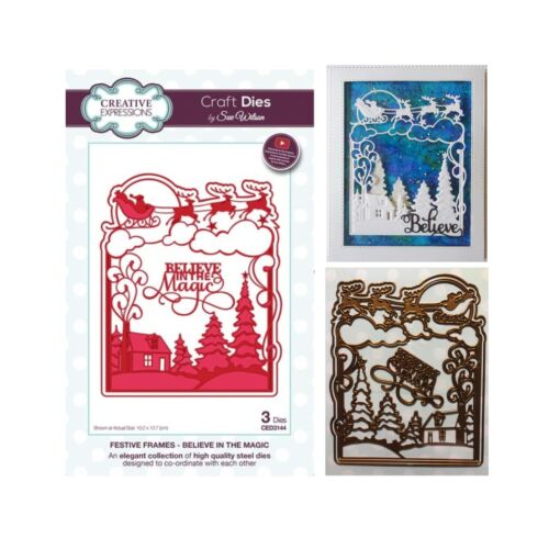 Christmas Santa Metal Die Cuts Believe in Magic Sue Wilson Cutting Dies CED3144