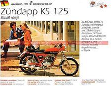 ZUNDAPP KS 125 ( KS125 ) 1973 Fiche Moto 000265