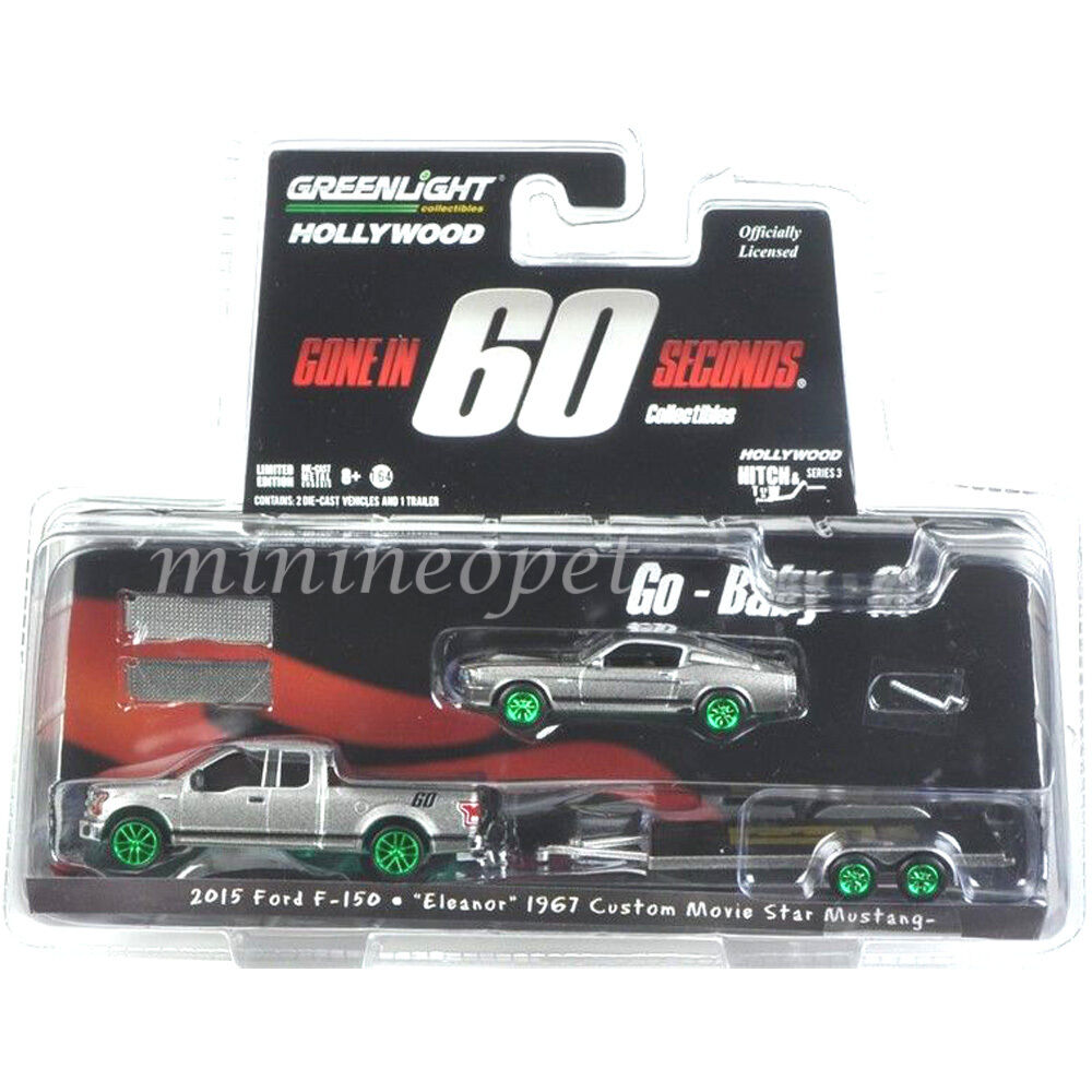 GREENLIGHT GONE IN 60 SECONDS 2015 FORD F150 & 1967 MUSTANG ELEANOR 1 64 CHASE