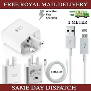Genuine-Samsung-Fast-Charger-Plug-amp-2M-Micro-USB-Data-Cable-For-Galaxy-Phones-Lot