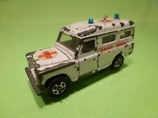 MEBETOYS  A-42 A42 LAND ROVER - AMBULANCE CROCE ROSSA 1:43? - NICE CONDITION