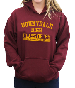 Sunnydale-High-Class-of-039-99-College-Felpa-con-cappuccio-BUFFY-L-039-AMMAZZAVAMPIRI-TOP