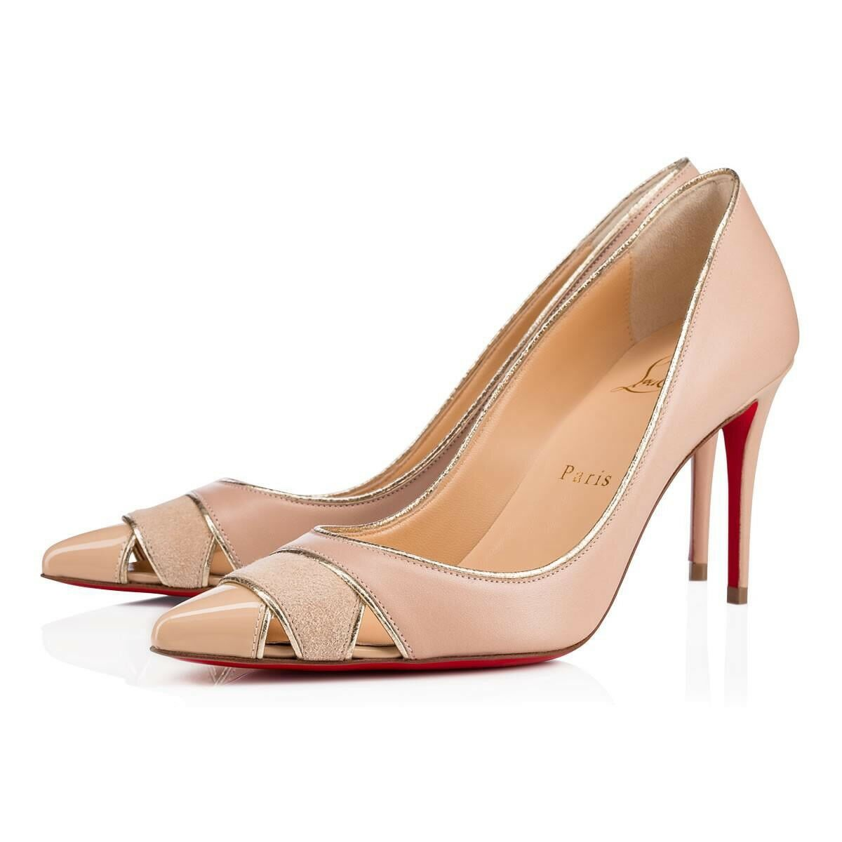 New Christian Louboutin Biblio Leather & Suede 85mm Pumps Taille Taille Taille 36EU 6US  775.00 bebefd