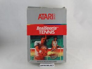 REALSPORTS-TENNIS-ATARI-2600-e-7800-PAL-EU-EUR-ITA-ITALIANO-ORIGINALE-COMPLETO