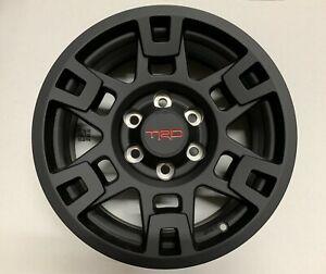 Genuine-Toyota-TRD-Pro-17-034-Matte-Black-Wheels-Tacoma-4Runner-Set-of-4-OEM