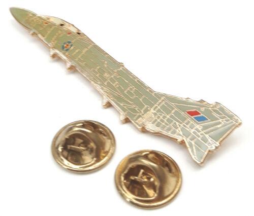 Phantom Aeroplane Side View Enamel Lapel Pin Badge