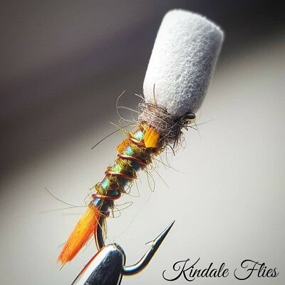 Set of 3 Lightweight Red Quill Buzzers size 12 Fly Fishing Flies  Bloodworm