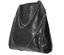 miniatura 2 - Borsa a tracolla spalla Grande Donna colore Nera con Catene Eco Pelle