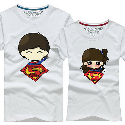 Superman Lovers clothes for men and women couple t-shirt short-sleeved T-shirt
