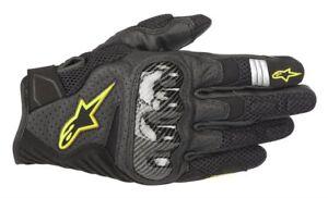 Alpinestars-SMX-1-AIR-V2-Black-Fluo-Yellow-Short-Mens-Mesh-Summer-Gloves
