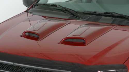 2 Piece Racing Accent Hood Scoops for 1994-1999 Chevrolet K1500 Suburban