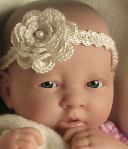Crochet pattern instructions baby headband with flower trim ref image is loading crochet pattern instructions baby headband with flower trim dt1010fo