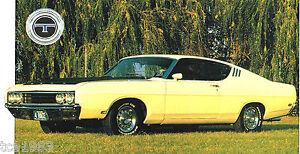 Image Is Loading  Ford Torino Talladega Spec Sheet Brochure Nascar