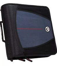 Case It 3 The Mighty Black Zip Tab Zipper Binder Dividers Amp Shoulder Strap