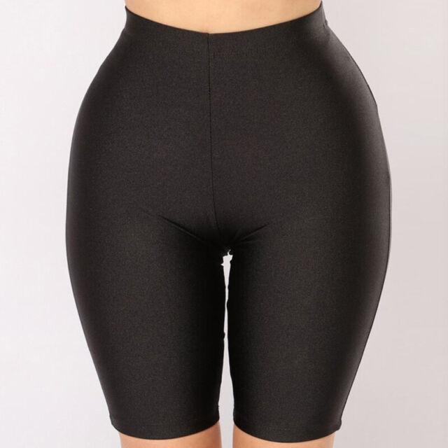 Womens Stretch Biker Bike Shorts Workout Spandex Leggings Knee Length Pants X810