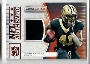 best loved 146fc 05a9d Details about ALVIN KAMARA 2018 Panini Rookies & Stars NFL AUTHENTIC JERSEY  #A-10 SAINTS