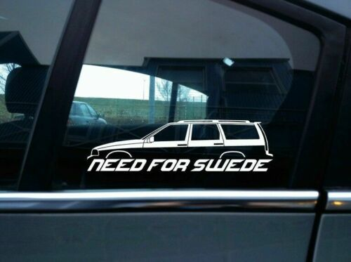 T5R NEED FOR SWEDE sticker w// rails 1996-2000 For Volvo V70 1st gen
