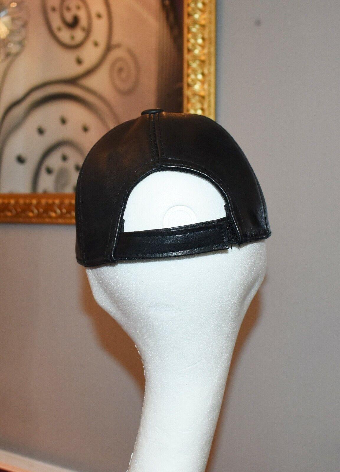Coole Leder Cap Basecap Ledermütze mit Logo Puma Echtes Leder NEU