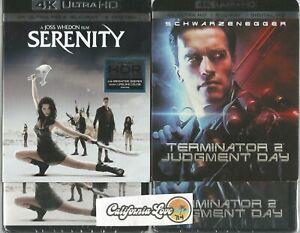 Details about SERENITY + TERMINATOR 2 T2 4K ULTRA HD + BLU-RAY 2-MOVIE SET  ✔☆MINT☆✔ NO DIGITAL