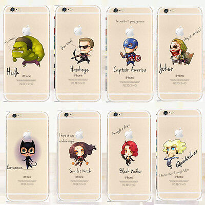 Ultra-thin Funny Cartoon Character Pattern TPU Case Cover For IPhone 5 5s 6
