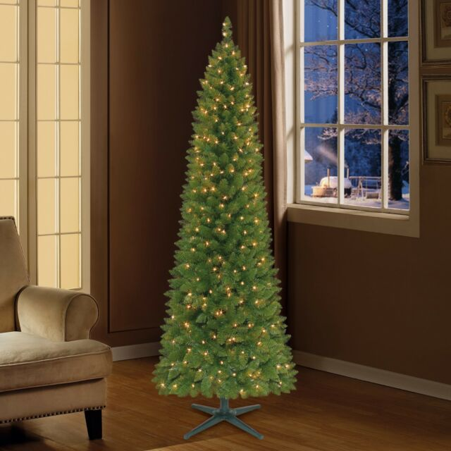 Grow And Stow Christmas Tree.Holiday Time 7 Pre Lit Clear Lights Brinkley Pine Slim Pencil Christmas Tree