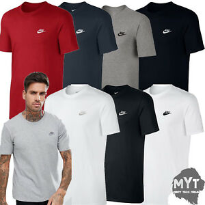 Nike-Mens-T-Shirt-Gym-Cotton-Sports-Crew-Neck-Athletic-Fit-Tee-Size-S-M-L-XL