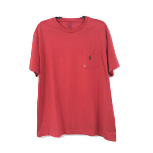 POLO-Ralph-Lauren-NWT-Men-039-s-Large-T-Shirt-Solid-Red-100-Cotton-Short-Sleeves