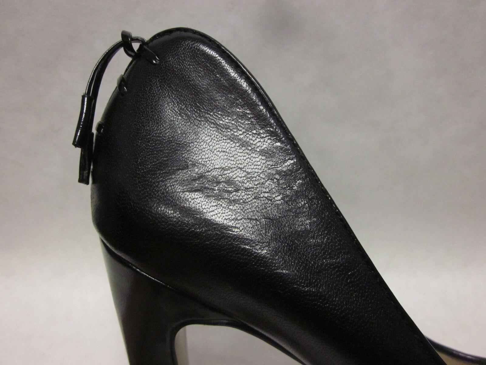 Nine Nine Nine West Heartache Black Open Toe Platform Pump - size 8.5 877146