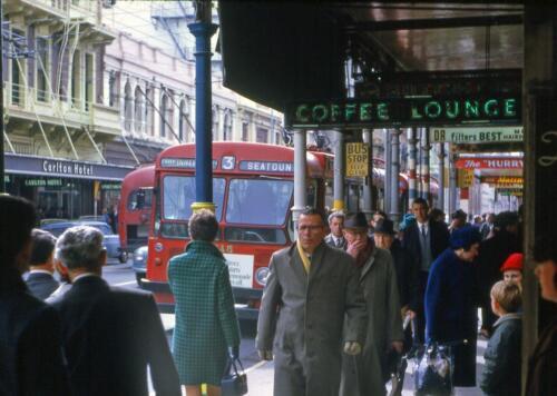 Willis Street 1967-8 New Zealand Wellington Photo