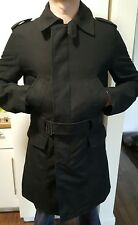 ZARA MAN SMART COAT TRENCH L BLACK NEW