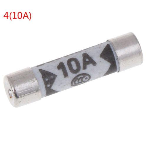 10 un británico fusibles BS1362 Relleno Arena Riot Cerámica Fusible 6x25mm 1A a 20A 2LDU
