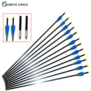 Archery-31-5-034-30-034-29-034-28-034-Fiberglass-Arrows-Target-Practice-Hunting-Arrows-for-Bow