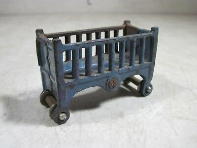 L132 Dollhouse Riding Blue Horse Toy Baby Crib Cradle Tiny Miniature re-ment1:12